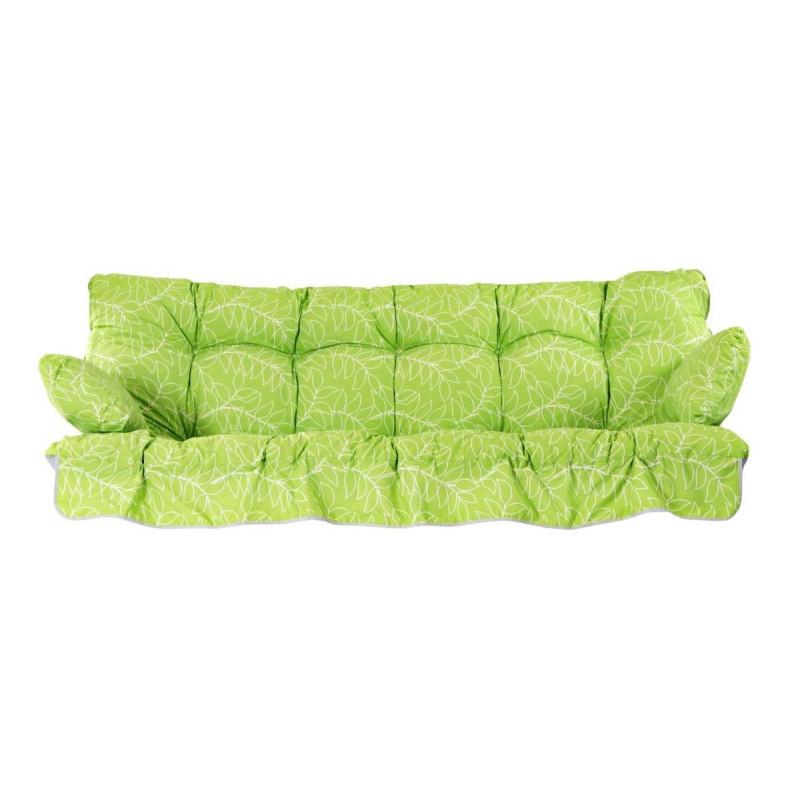 Pehmustesarja kolmen hengen keinuun, kangas vihreä